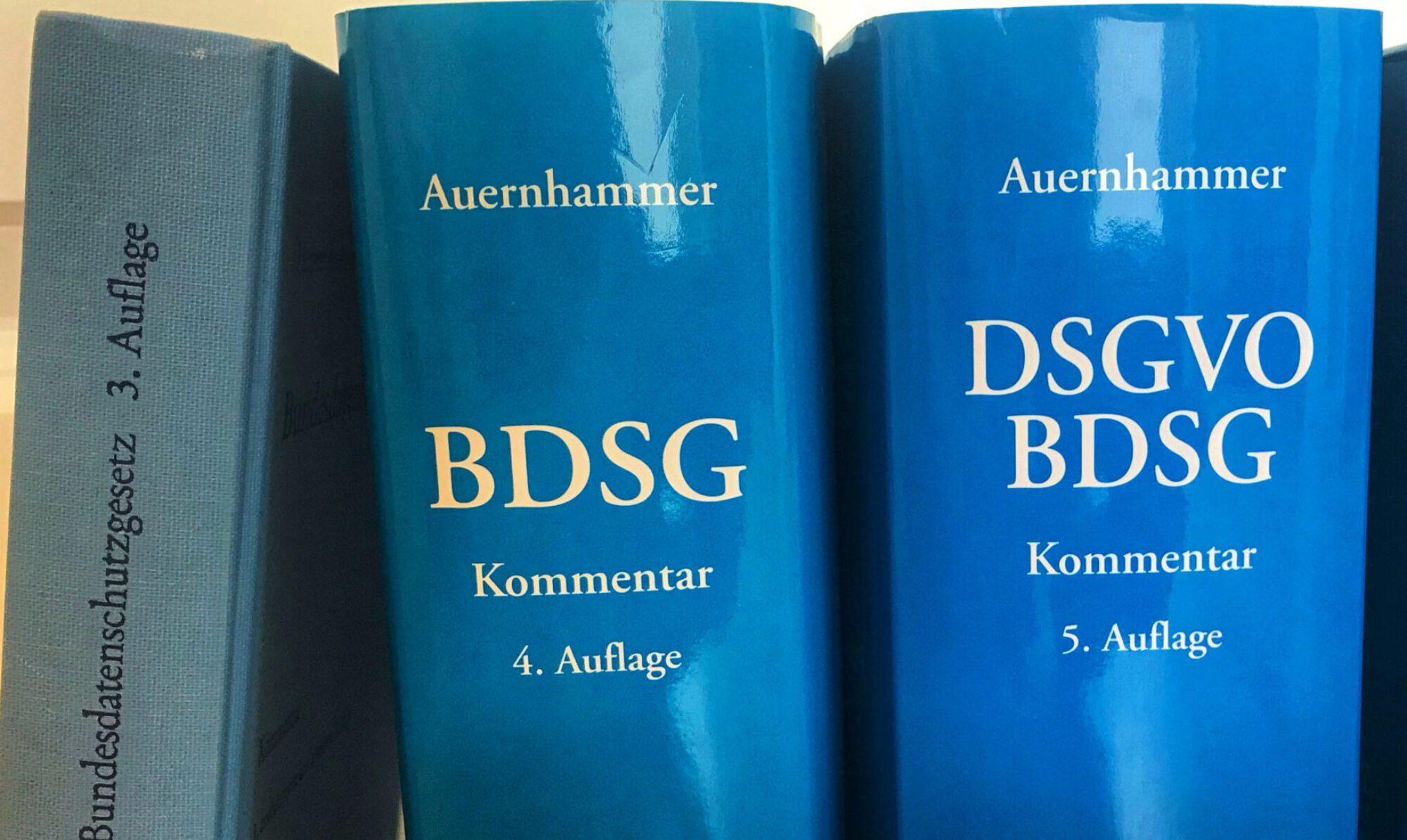 Auernhammer | DSGVO BDSG